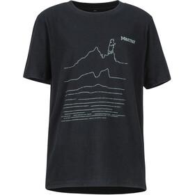 Marmot Purview T-shirt Garçon, black heather
